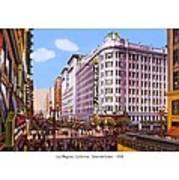 Los Angeles California - Seventh Street - 1938 Art Print