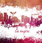 Los Angeles California Skyline Art Print