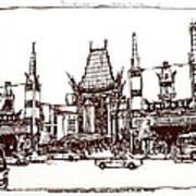 Hollywood's Chinese Theater Landmark.          Art Print