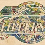 Los Angeles Clippers Poster Art Art Print