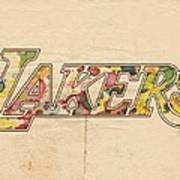 Los Angeles Lakers Logo Art Art Print