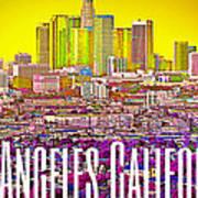 Los Angeles Postcard Art Print