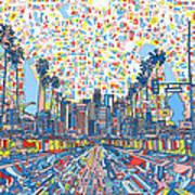 Los Angeles Skyline Abstract 3 Art Print
