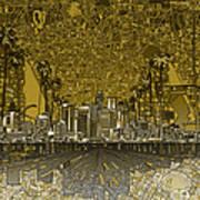 Los Angeles Skyline Abstract 4 Art Print