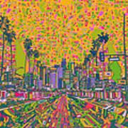 Los Angeles Skyline Abstract Art Print