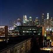 Los Angeles Skyline At Dusk Art Print