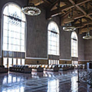 Los Angeles Union Station Original Ticket Lobby Vertical Art Print