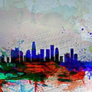 Los Angeles  Watercolor Skyline 1 Art Print