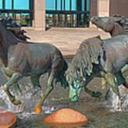 Los Colinas Mustangs 14675 Art Print