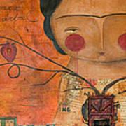 Los Corazones De Mi Arbol Art Print by Thelma Lugo