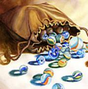 Losing My Marbles Art Print by Daydre Hamilton
