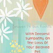 Loss Of Beloved Pet Card Art Print