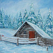 Lost Mountain Cabin Art Print