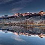 Lost River Mountains Winter Reflection Art Print