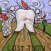 Lost Tooth Art Print by Anthony Falbo