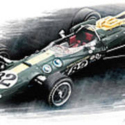 Lotus 38 Art Print by Peter Chilelli
