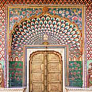 Lotus Gate In Jaipur City Palace Art Print
