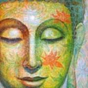 Lotus Meditation Buddha Art Print