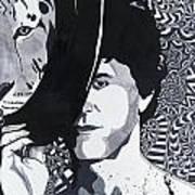 Lou Reed In Pools Art Print