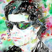 Lou Reed Watercolor Portrait.2 Art Print