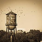 Loudon Water Tower Art Print