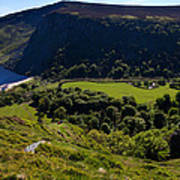 Lough Tay Below Luggala Mountain Art Print