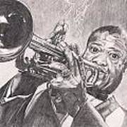 Louie Armstrong Art Print by Beverly Marshall