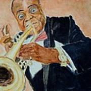 Louis Armstrong 1 Art Print by Katie Spicuzza