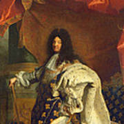 Louis Xiv In Royal Costume, 1701 Oil On Canvas Detail Of 59867 Art Print