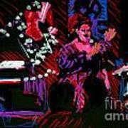 Louise At Jazz Corner Art Print