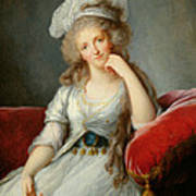 Louise-marie Adelaide, Duchesse Dorleans Oil On Canvas See Also 91622 Art Print