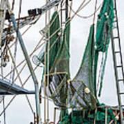 Louisiana Shrimp Boat Nets Art Print