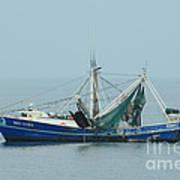 Louisiana Shrimp Trawler Art Print by Bradford Martin