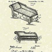 Lounge 1890 Patent Art Art Print by Prior Art Design