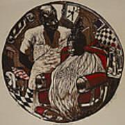 Lou's Barbershop Art Print