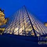 Louvre Pyramid At Dusk Art Print