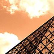 Louvre Pyramid Top Edited Art Print