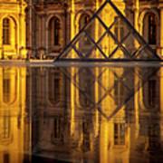 Louvre Sunset Art Print