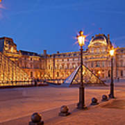 Louvre Twilight Art Print