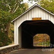 Loux Bridge And Sharp Left - Bucks County  Art Print by Anna Lisa Yoder
