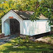 Loux Covered Bridge Bucks County Pa Art Print