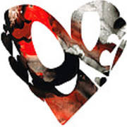 Love 18- Heart Hearts Romantic Art Art Print