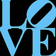 Love 20130707 Blue Black Art Print