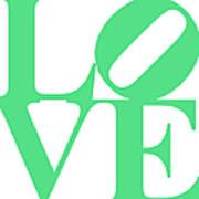 Love 20130707 Green White Art Print