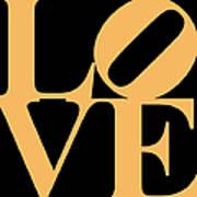 Love 20130707 Orange Black Art Print