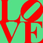 Love 20130707 Red Green Art Print