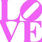 Love 20130707 Violet White Art Print