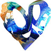 Love 4 - Heart Hearts Romantic Art Art Print