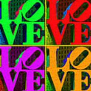 Love 4 Philadelphia - Painterly V4 Art Print by Wingsdomain Art and Photography