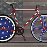 Love America Bike Art Print by Andy Scullion